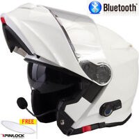 VIPER RS-V171 BLUETOOTH FLIP FRONT MOTORBIKE MOTORCYCLE HELMET GLOSS WHITE