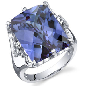 Gorgeous Blue Sapphire Ring Women 925 Silver Jewelry Engagement Rings Size 6-10