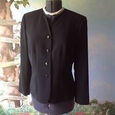 Le Suit Women Long Sleeve Black Suit Jacket Blazer Size 14