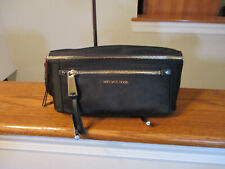 Authentic Michael Kors Polly Waist Fanny Pack Nylon Black Gold New W/Tag