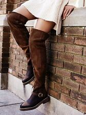 FREE PEOPLE: Banter Over The Knee Boot Brown 38 Euro / 7.5 US =New