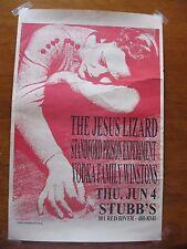 Jesus Lizard Poster by Chris Mohrmann - 1998 - Stubb's, Austin TX - Jun 4 unhung