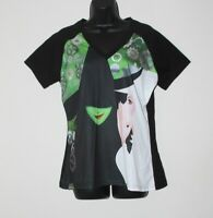 Wicked Broadway women's sublimated 2 witch v-neck t shirt, size 2XL, NWT