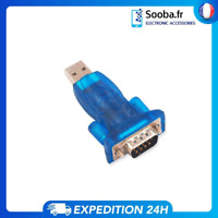 Adaptateur DB9 RS23 Convertisseur vers USB Neuf Connexion Serie RS 232