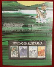 Francobolli australiani e oceaniani sul pesca