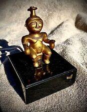 Statue Ancienne objet azteque precolombien maya Couleur Or Metal ? Deco