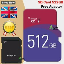 Memory Storage 512GB TF Ultra SD Card SD SDHC  SDHC UHS-1 Ultra + Free ADAPTER