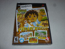 FACTORY SEALED BRAND NEW PLAYSTATION 2 PS2 GAME GO DIEGO GO SAFARI RESCUE NFS >>