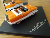 1/43 scale Vitesse RARE Nash Metropolitan 1500. Orange & White. Open Convertible