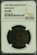 Colonial New Jersey. 1787 Sprig Above Plow. NGC VG 8  BN.  Lot # 4736464-049