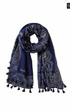 Lilly Pulitzer  Sienna Wrap True Navy Gold Treasure Trunk Engineered Scarf