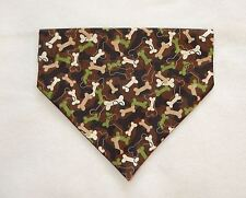 CAMOUFLAGE DOG BONES DOG SCARF--MEDIUM