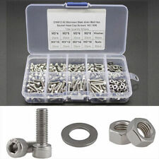 320pcs M3 Stainless Steel Hex Screw Nuts Bolt Cap Socket Assortment Kit Set Box