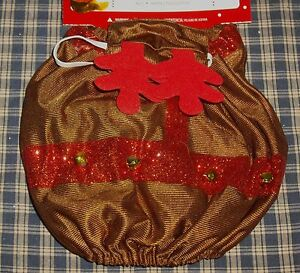 Simply Dog Christmas Holiday Time Pet Outfit Reindeer with Antler Hat XS/S NEW