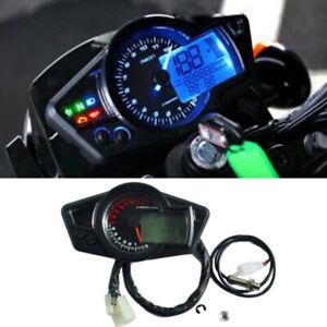 12V Motorcycle 15000RPM LCD Digital Odometer Speedometer Tachometer Gauge Kit
