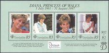 Seychelles 1998 Diana, Princess of Wales/Royalty/Royal/People 4v m/s (n18371)