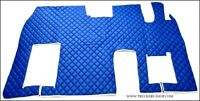 MERCEDES MP3 FLOOR SET LEATHERETTE IN BLUE[TRUCK PARTS & ACCESSORIES]