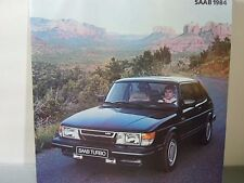1984 Saab 900 Turbo S Sales Brochure