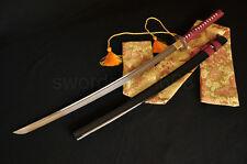 0Handmade Japanese Samurai Sword Katana Full Tang Blade Phoenix Tsuba Very Sharp