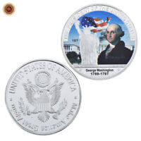 WR 1789-97 1st US President George Washington SILVER Coin Token Medal Collection