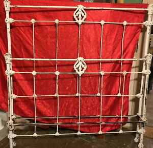 Antique Ornate Cast Iron Full Size Bed Frame Headboard. No Side Rails, Rare