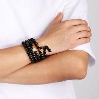 Dragon Jewelry Buddha Beads Black Obsidian Bangles & Bracelets Natural Stone