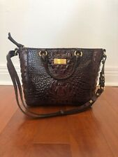 Brahmin Brown Leather Alligator Print Handbag