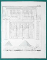 ARCHITECTURE Egypt Temples at Tentyris - 1828 Antique Print