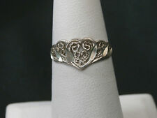 Vintage Heart Handmade Engraved Cut Out Sterling Ring   Make Offer!