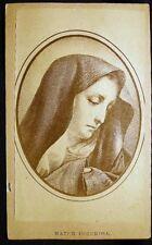 CARTE DE VISITE CDV PORTRAIT MARY OUR LADY OF SORROWS MATER DOLOROSA