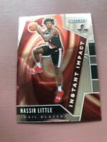 2019-20 NBA Panini Prizm Nassir Little Blazers Instant Impact RC Rookie Card