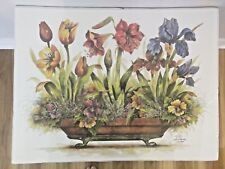 LIMITED EDITION  POTTED GARDEN Floral SIGNED & NUMBERED FRANKIE BUCKLE 646/2000