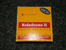 RARE Vintage (1964) pellicola a colori 11 COLORI MOVIE FILM 8MM BOX & container in stagno