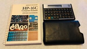 HP-16C Programming Calculator with case and manual - very clean, works great!