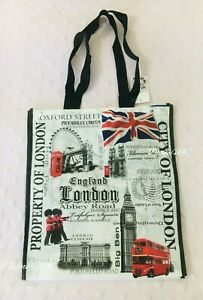 London Eye Big Ben souvenirGift Bag Red Phone Bag Reusable ShoppingGift DivineUK