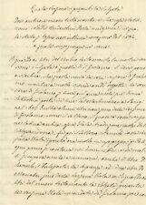 Quesito di Ermeneutica Biblica Antico Studio Manoscritto Ottocentesco 1851