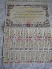 Vintage share certificate Stock Bonds reconstitution port Cherbourg 1947