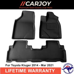 CARJOY®3D TPE Moulded Waterproof Car Floor Mats for Toyota Kluger 2014 - 2020