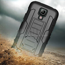 Rugged Armor Hybrid Case Hard Cover Hoslter For Samsung Galaxy S4 Mini i9190