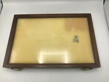 Vintage Wood And Glass Counter Display Case With 2 Keys