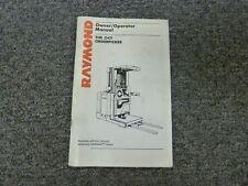 Raymond Model EASi Orderpicker Forklift Truck Owner Operator Maintenance Manual