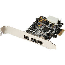 2 ports 1394B PCI-e card Firewire 800 1394A IEEE 400 PCIe card 4P to 6Pin Cable