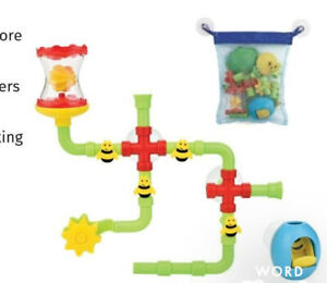Discovery Toys Busy BEE Bath Works Construction Build Set w/ Adjustable Valves