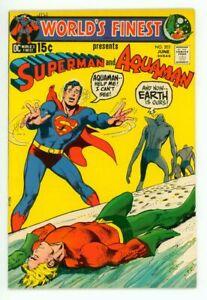 WORLD'S FINEST #203 NM 9.4 SUPERMAN AQUAMAN LAST 15 CENT ISSUE COMIC 1971