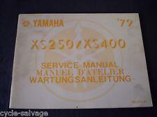 Yamaha XS 250 400 1979 Wartungsanleitung Ergänzung Supplement Service Manual