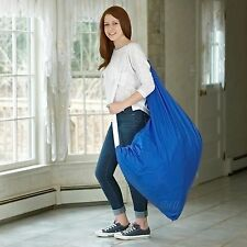 """Durable Nylon Laundry Bag with Shoulder Strap 