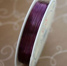 Brass wire 0.3 mm PURPLE 1 spool (28 metres)