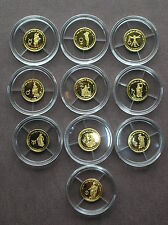 Solar System - 999 GOLD, Fiji 2010, only 2000 sets! Astronomy 10 piece coin set!