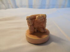 "Chalkware kneeling monk  figure 2"""