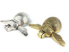Solid Brass & Nickel Bumble Bee Door Knocker - Antique Vintage Animal Knockers